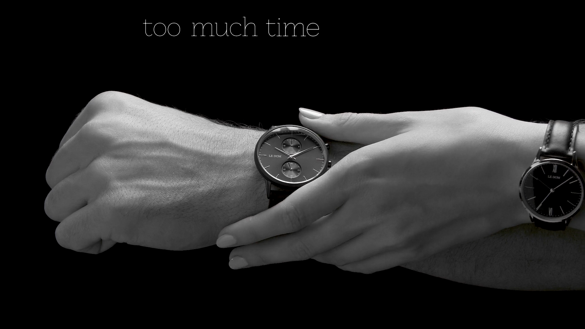 A pair of beautiful hands of Alina & Leonidas for the campaign of Le Dom watches